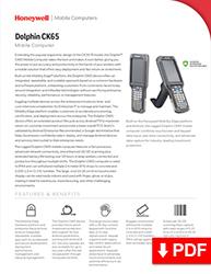 Dolphin CK65 mobile computer datasheet.