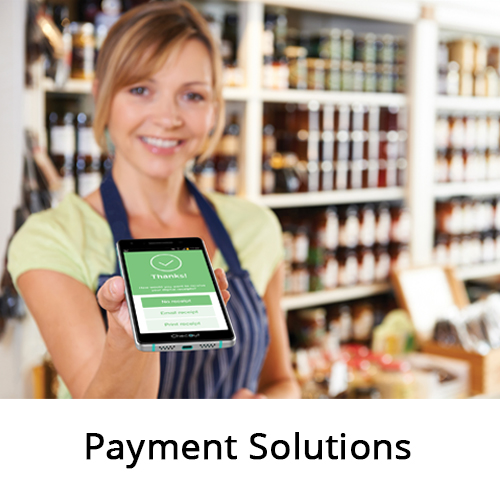 Retail worker with Innowi payment terminal